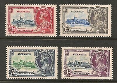 Ascension stamp set Scott# 33-36 Mint NH KGV Silver Jubilee Great Britain