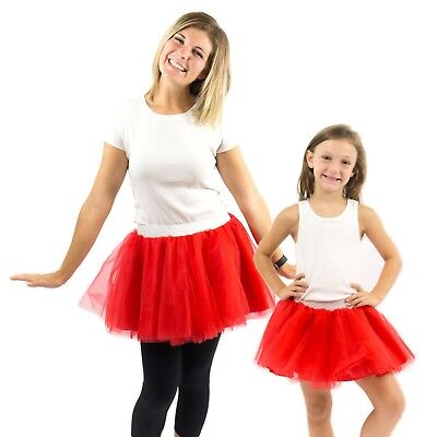 Everfan Dress Up Tutu, Dance Skirt, Run Tutu, Kids and Adult - 14 Color Options