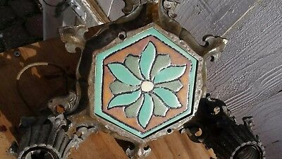 ARTS & CRAFTS MOSIAC TILE COMPANY INSERT CEILING FIXTURE 1920s or 1930s ERA