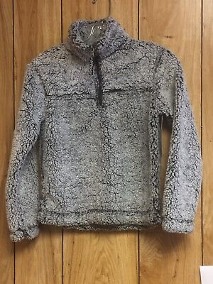 Smoky Grey Sherpa Pullover  Youth Large