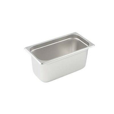 Winco SPJH-904 Solid Steam Table Pan 1/9 Size Heavy Weight