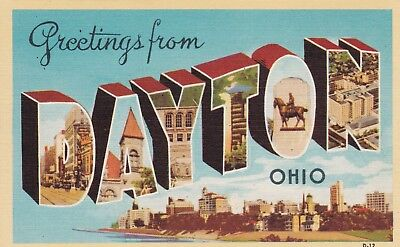 Greetings from Dayton, Ohio - Large Letter Linen