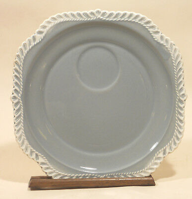 """2 Harker Ware Pottery Chesterton Gray Grey 8 1/4"""" Snack Plate Plates"""