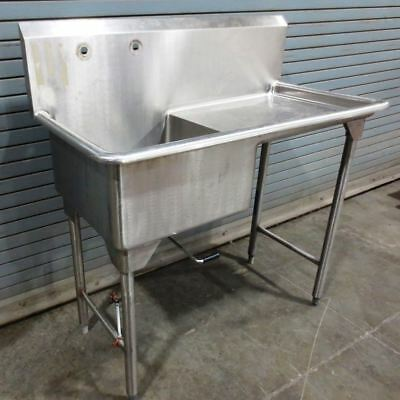 STAINLESS STEEL SINK,1 Compartment with Drain Board commercial|010-1494406