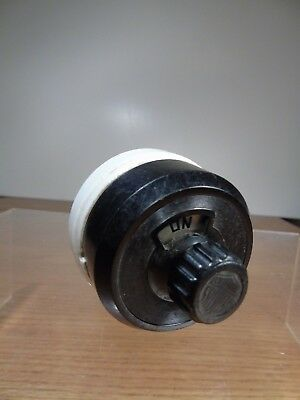 1912 Perkins Bakelite and Porcelain Rotary 10 Amp Light Switch