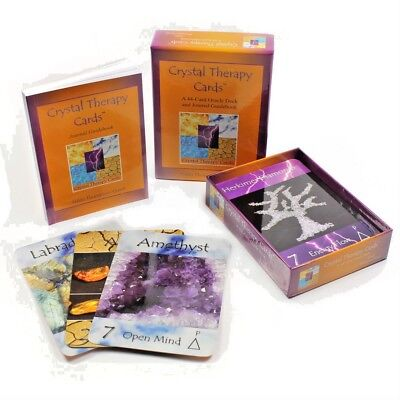 Crystal Therapy Cards Gemstone Healing Oracle New Age Divination Oracle 44 Deck