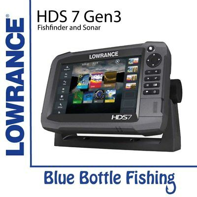NEW Lowrance HDS 7 Gen 3 Touch With TotalScan Transducer from Blue Bottle Marine