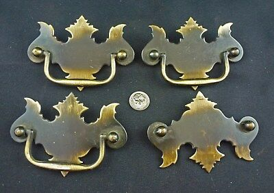 "Vintage Chippendale Bat-Wing Drawer Pulls, Set of 4, 3"" Centers"