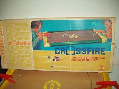 Vintage 1971 Crossfire game Ideal Toy corp GREAT CONDITION full sized table game