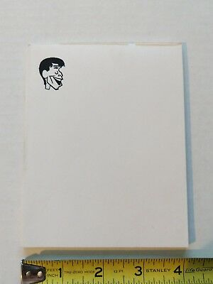 Jerry Lewis Notepad.From Damn Yankees Tour Merchandise Mgr's Personal Collection