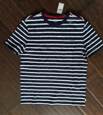 Gap Kids Boys T - Shirt - size XL / 12 - Blue & White Striped - New With Tags