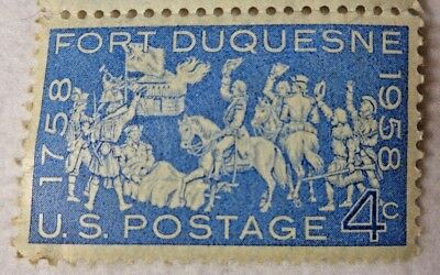 US Postage 4 Cent Fort Duquesne 1758 - 1958 Stamps