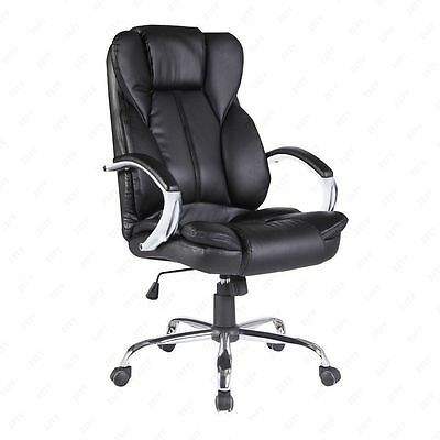 BN PU Leather High Back Office Chair Executive Swivel Computer Desk Chair Black