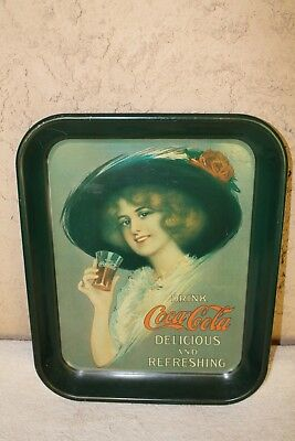 Vintage Coca Cola Coke Advertising  Litho Metal Serving Tray