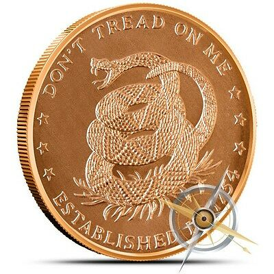 1 oz Copper Round - Don't Tread On Me