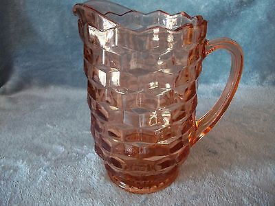 Vintage Amber Indiana Glass Whitehall Cubist Water Iced Tea Pitcher 52 Oz Mint