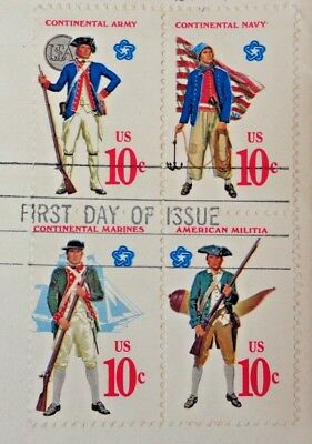 United States Continental Army 10 Cents First Day of Issue US Postage Stamps