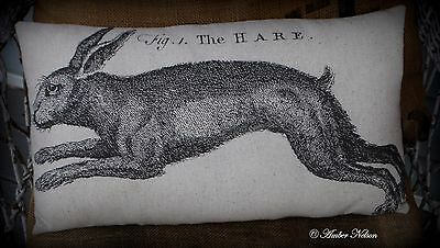 Easter eggs Spring Vintage antique Rabbit bunny hare running def primitive old