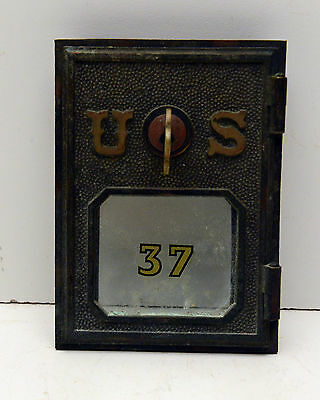 Antique Vintage Post Office Door Mail Box Postal With Key Rare