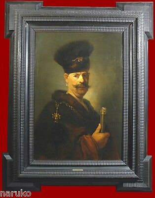 """School OF REMBRANDT PAINTING EUROPEAN SCHOOL BY W BROENS PINS O/C 42.75""""x 29.2"""