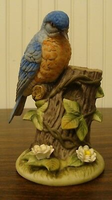 "The Gallery Birds By Gorham EASTERN BLUEBIRD Figurine Made in Japan 5.2"" Tall"
