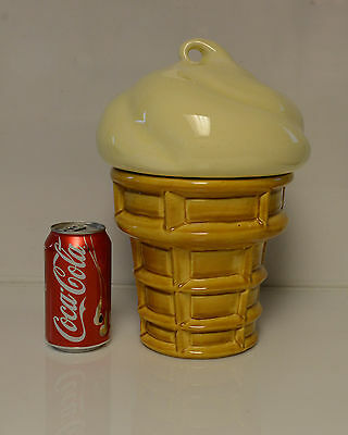 Vintage Ice cream Cookie Jar Ceramic Large!