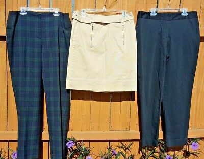 Women's Mixed Lot Anne Klein 2 Pants & 1 Skirt All Size 8