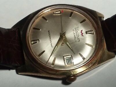Vintage Waltham 17 Jewel Mechanical Wind Men's Wrist Watch From Estate Retro Old