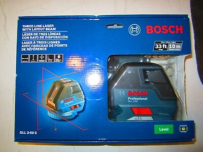 *NEW* Bosch 3-Line Laser Level with Layout Beam Kit (GLL 3-50)