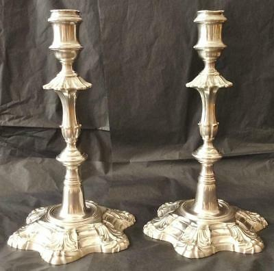 Rare Beautiful Pair of Antique Silver Candlesticks 1753 & 1754 JQ