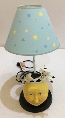 Lamp moon with cow jumping over Themed Mother goose Nursery Lamp