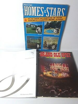 Lot 3 Grand Ole Opry Country Music Stars Souvenir Books - Picture History