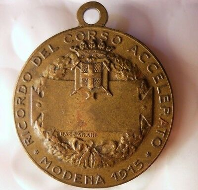 1915 ITALY WAR MEDAL - Modena Military School - Awesome Piece - Lot #J15