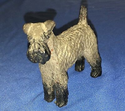 Giant Schnauzer Terrier Figurine (Molded Plastic/Celluloid?)