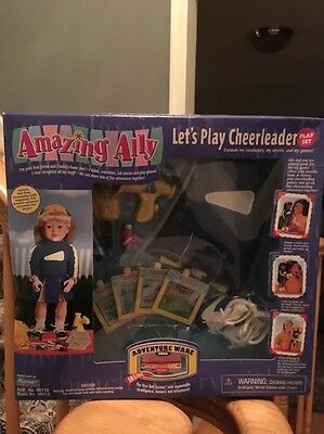 Playmates Amazing Ally let's Play cheerleader Play Set - New In Box