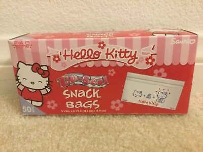 Sanrio Hello Kitty Snack Ziplock Bags Brand New Lot of 50 LAST ONE!