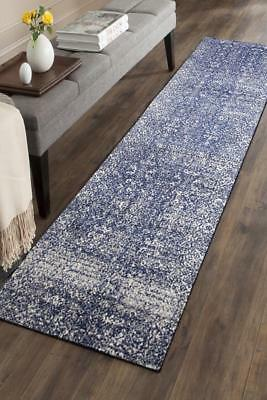 Hallway Runner Hall Runner Rug Modern Blue Cream 5 Metres Long Premium Edith 252