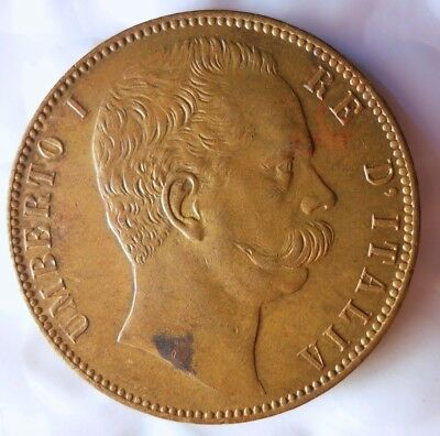 1890 ca ITALY MEDAL - HIGH GRADE - KING UMBERTO I - Lot #J15