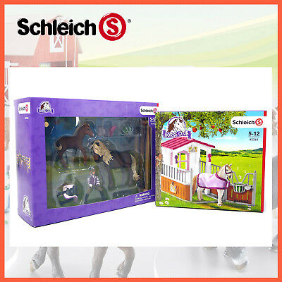 Schleich Horse Club Rider & Icelandic Ponies + Horse Stall 42363 + 42368 Combo