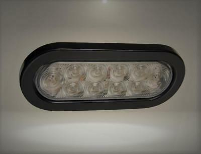 "Reese Towpower 86078 Clear 6"" LED Back-Up Light Kit (White SeaLED Oval)"