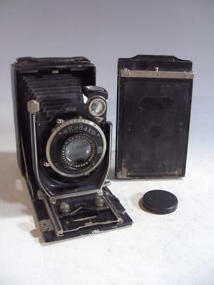 Vintage Kodak Recomar Model 33 3-1/4X4-1/4 Camera Ground Glass & Magazine Backs