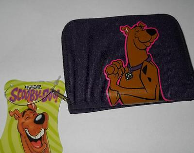 2003 Hanna Barbera Scooby DOO Zip up / Snap Card and Change Wallet Purple