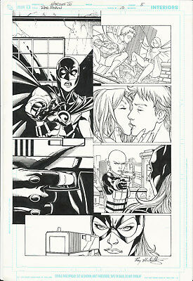Original Comic Art 11x17 Red Robin Issue 10 Page 5 Marcus To Ray McCarthy