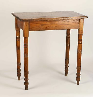 """Antique OAK TABLE - SMALL PRIMITIVE-STYLE COUNTRY TABLE 28""""Wx18""""Dx30""""H"""