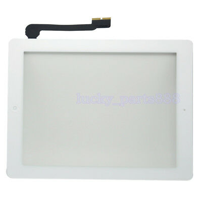 White For iPad 3 3rd iPad 4 4th Touch Screen Digitizer +Home Button +IC +Sticker