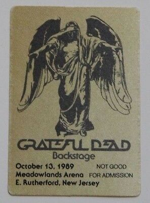 Grateful Dead Backstage Pass 10-13-89 Meadowlands Arena New Jersey