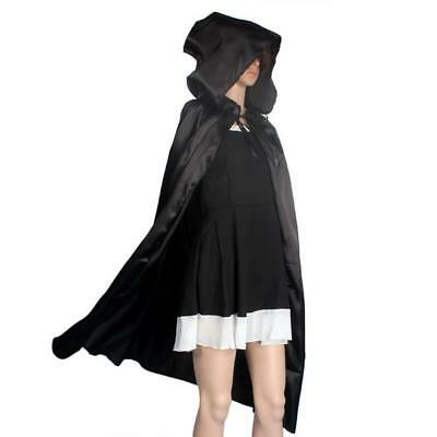 JECKSION Hooded Cloak Coat,Black Red Wicca Robe Medieval Cape Shawl Halloween Pa
