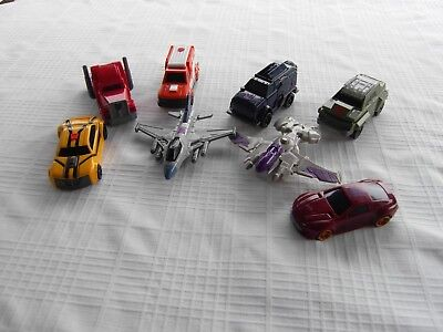 2012 Mcdonalds Transformers Movie Set Lot 8 Figures Bumblebee¤Megatron¤Bulkhws¤