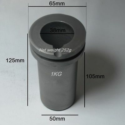 1kg High Purity Graphite Crucible for Melting Furnace  for Gold & Silver 1pc bi