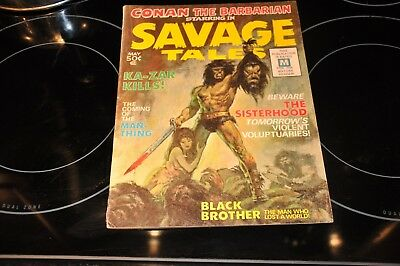 Savage Tales 1 Marvel Magazine VG+ BWS Early Conan, 1st Man-Thing, Femzons